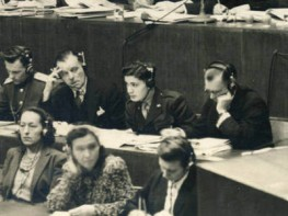 Sigfried Ramler (top row, second from right) at the Nuremberg trials. Photo courtesy of Sigfried Ramler)