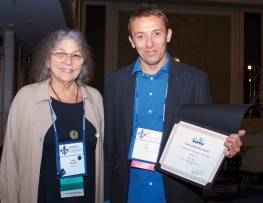 ATA Honors and Awards Committee Chair Lois Feuerle with Sam Taylor