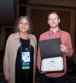ATA Honors and Awards Committee Chair Lois Feuerle with Devin Gilbert