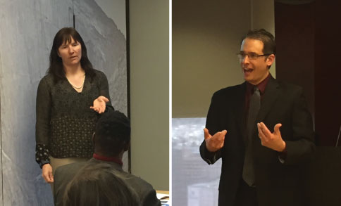 ATA President-elect Corinne McKay and ATA-certified Spanish>English translator David Lauman spoke to members of the Rocky Mountain Paralegal Association about the importance of using professional translators and interpreters.