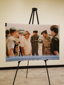 Photo by Pernaca Sudhakaran of a UN nuclear inspection team with the Fallujah Military Transport Command.