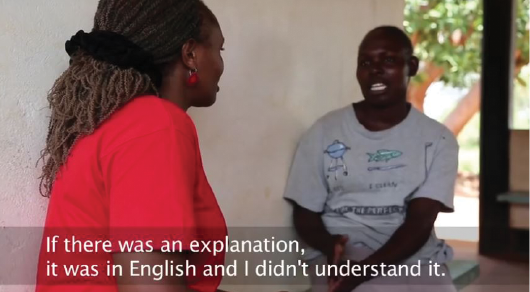 """Screenshot from """"Translation Matters: The Story of Our Work in Kenya."""" Watch the video at: http://bit.ly/TWB-Kenya."""
